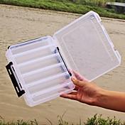 Caja de pesca Caja de cebos 2 Bandejas Plásticos 20*17 cm*4.5