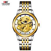 Hombre Reloj Deportivo Reloj Esqueleto Reloj de Moda El reloj mecánico Chino Cuerda Automática Resistente al Agua Luminoso Noctilucente