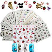 50 pcs 3D Nail Stickers / Piker og unge damer / 3D Mote 3D Daglig