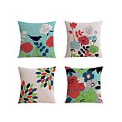 4 PC Lino Funda de almohada Almohada de viaje El amortiguador del sofá Cobertor de Cojín Almohada de cama Almohada de cuerpo,Art Decó