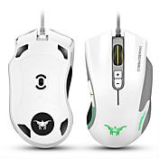 Cw10 4800 ppp ratón de ratones ratones de ratón 7 botones de diseño 6 respiración led colores cambiar de alta precisión para gamer pc mac