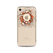Funda Para Apple iPhone X iPhone 8 Plus Transparente Diseños Cubierta Trasera Logo Playing With Apple Dibujo 3D Suave TPU para iPhone X
