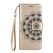 Etui Til Samsung Galaxy J7 Prime / J5 Prime Lommebok / Kortholder / Flipp Heldekkende etui Mandala / Blomsternål i krystall Hard PU Leather til J7 Prime / J7(2016) / J5 Prime