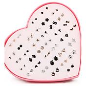 여성용 스터드 귀걸이 패션 미니멀 스타일 은 도금 도금 골드 Geometric Shape 보석류 제품 일상 캐쥬얼