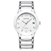 Women's Fashion Watch Quartz Water Resistant / Water Proof Ceramic Band White Silver Gold