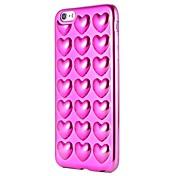 Etui Til Apple iPhone 7 Plus iPhone 7 Belegg Mønster Bakdeksel Hjerte Myk TPU til iPhone 7 Plus iPhone 7 iPhone 6s Plus iPhone 6s iPhone