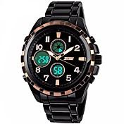 SKMEI Hombre Mujer Reloj Deportivo Reloj de Moda Reloj de Pulsera Chino Cuarzo Compass Calendario Cronógrafo Resistente al Agua alarma