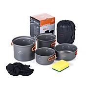 Naturehike Batería de cocina para camping Olla para camping sets Portátil Aleación de aluminio para Camping y senderismo Camping Picnic