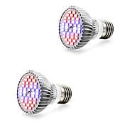 2pcs 7W 800-1200lm E14 GU10 E27 Voksende lyspære 40 LED perler SMD 5730 Varm hvit Hvit Blå Rød 85-265V