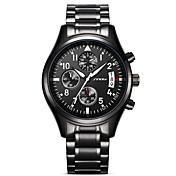 SINOBI Hombre Simulado Diamante Reloj Reloj de Pulsera Reloj Militar Reloj de Vestir Reloj de Moda Reloj Deportivo Japonés Cuarzo