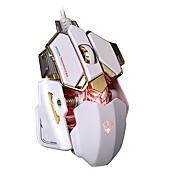 M601 Med ledning Gaming Mouse DPI Justerbar bakgrunnsbelyst Multifunktion 500/1250/2000/4000