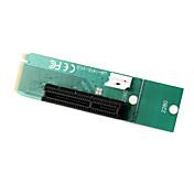 pci express femenina pci-e 4x para ngff m.2 m tarjeta llave convertidor adaptador macho con cable de alimentación