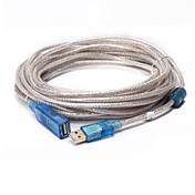 USB 2.0 Cable de extensión, USB 2.0 to USB 2.0 Cable de extensión Macho - Hembra 15.0m (50 pies)