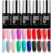 Gel UV para esmalte de uñas 7ml 1 Empapa Glitters Gel de color UV Clásico Reluciente Empapa de Larga Duración Diario Empapa Glitters Gel