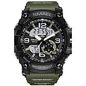 Hombre Reloj Deportivo Reloj Militar Reloj de Moda Reloj digital Japonés Cuarzo Calendario Cronógrafo Resistente al Agua Cronómetro