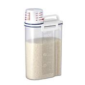 abs plastisk risbeholder med hellingspute 2 kg kjøkkenlagring