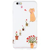 Funda Para Apple iPhone 7 Plus iPhone 7 Congelada Diseños Funda Trasera Perro Flor Caricatura Suave TPU para iPhone 7 Plus iPhone 7