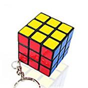 Rubiks kube Mini Glatt Hastighetskube Magiske kuber Nøkkelring Kubisk Puslespill Glatt klistremerke Gave Unisex