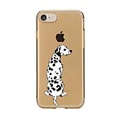 Funda Para Apple iPhone 7 / iPhone 7 Plus Transparente / Diseños Funda Trasera Perro Suave TPU para iPhone 7 Plus / iPhone 7 / iPhone 6s Plus