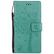 케이스 커버 용 카드 지갑 지갑 스탠드 플립 양각 무늬 풀 바디 케이스 고양이 하드 pu 가죽 소니 xperia xz sony xperia