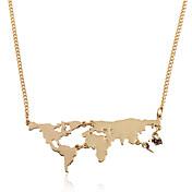 Hombre / Mujer Geométrico Collares con colgantes - Chapado en Oro Geométrico, Punk Dorado, Negro, Plata Gargantillas Para Regalo, Casual