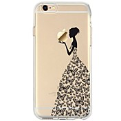 Funda Para Apple iPhone 7 Plus iPhone 7 Ultrafina Transparente Diseños Funda Trasera Chica Sexy Caricatura Suave TPU para iPhone 7 Plus