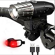 Luces para bicicleta LED LED Ciclismo Antigolpes Portátil Profesional Ajustable Fácil de Transportar Alta calidad Impermeable Peso ligero