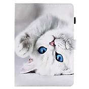 Etui Til Apple iPad 4/3/2 iPad Air 2 iPad Air Kortholder Lommebok med stativ Flipp Mønster Heldekkende etui Katt Hard PU Leather til iPad