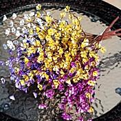 1 Rama Plástico Color Ciruela Flor de Mesa Flores Artificiales