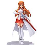 Las figuras de acción del anime Inspirado por Sword Art Online Asuna Yuuki CLORURO DE POLIVINILO 13 CM Juegos de construcción muñeca de