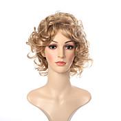 여성 캡 없음 잛은 컬리 블론드 내츄럴 가발 코스튬 가발