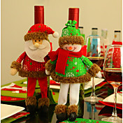 1pc Julenissen fritid Oppbevaringsveske Erme Ferie, Feriedekorasjoner Holiday Ornaments