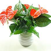1 Rama Plástico Otros Plantas Flor de Mesa Flores Artificiales