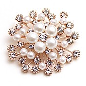 Dame Nåler Syntetisk Diamant Imitert Perle Klassisk Mote Imitert Perle Legering Blomst Smykker Til Daglig Stevnemøte