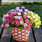2 Rama Plástico Otros Rosas Flor de Mesa Flores Artificiales