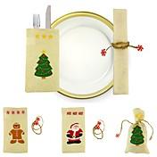 Bolsas de regalo Vacaciones Tema Fantástico Personas Textil Decoración navideña