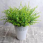 3 Rama Plástico Otros Otros Plantas Flor de Mesa Flores Artificiales