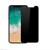 Protector de pantalla Apple para iPhone X Vidrio Templado 1 pieza Privacidad Antiespionaje Anti-Arañazos Borde Curvado 2.5D Dureza 9H