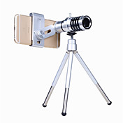 Kit de lente de cámara para teléfono orsda® Zoom óptico 12x Objetivo de telescopio teleobjetivo universal para smartphone con cinta de
