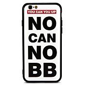 Etui Til Apple iPhone 7 Plus iPhone 7 Støtsikker Inngravert Bakdeksel Ord / setning Hard PC til iPhone 7 Plus iPhone 7 iPhone 6s Plus