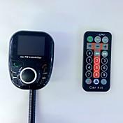 bt002 universal trådløs bil mp3 lyd spiller bluetooth fm sender med fjernkontroll håndfri lcd skjerm usb lader