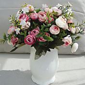 Kunstige blomster 1 Gren Pastorale Stilen Roser Bordblomst