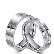 Herre / Dame Kubisk Zirkonium Forlovelsesring / Ringer Set - Kubisk Zirkonium Prinsesse Klassisk 6 / 7 / 8 Titan Til Bryllup / Fest / aften / Aftenselskap