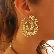 Mujer Pendientes colgantes / Pendients de aro - Ola, Twist Circle Vintage, Europeo, Étnico Dorado / Plata Para Fiesta de Noche / Carnaval