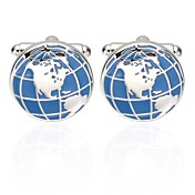 Globe Blå Mansjettknapper Kobber Etnisk Ferie Herre Kostyme smykker