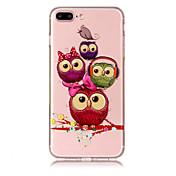케이스 제품 Apple iPhone X iPhone 8 Plus 투명 패턴 뒷면 커버 부엉이 소프트 TPU 용 iPhone X iPhone 8 Plus iPhone 8 iPhone 7 Plus iPhone 7 iPhone 6s Plus