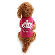 Gato Perro Camiseta Ropa para Perro Casual/Diario Tiaras y Coronas Rosa Disfraz Para mascotas