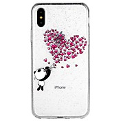 Funda Para Apple iPhone X iPhone 8 iPhone 8 Plus iPhone 6 iPhone 6 Plus iPhone 7 Plus iPhone 7 Traslúcido Diseños Funda Trasera Corazón