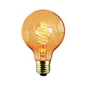 1pc 60W E27 E26/E27 G80 Varm hvit K Glødende Vintage Edison lyspære AC 220-240V V