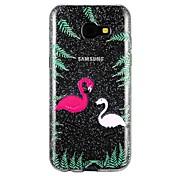 케이스 커버 Samsung Galaxy 용 A5(2017) A3(2017) 뒷면 커버 반투명 엠보싱 텍스쳐 패턴 동물 카툰 글리터 샤인 소프트 TPU A3 (2017) A5 (2017) A7 (2017) 용